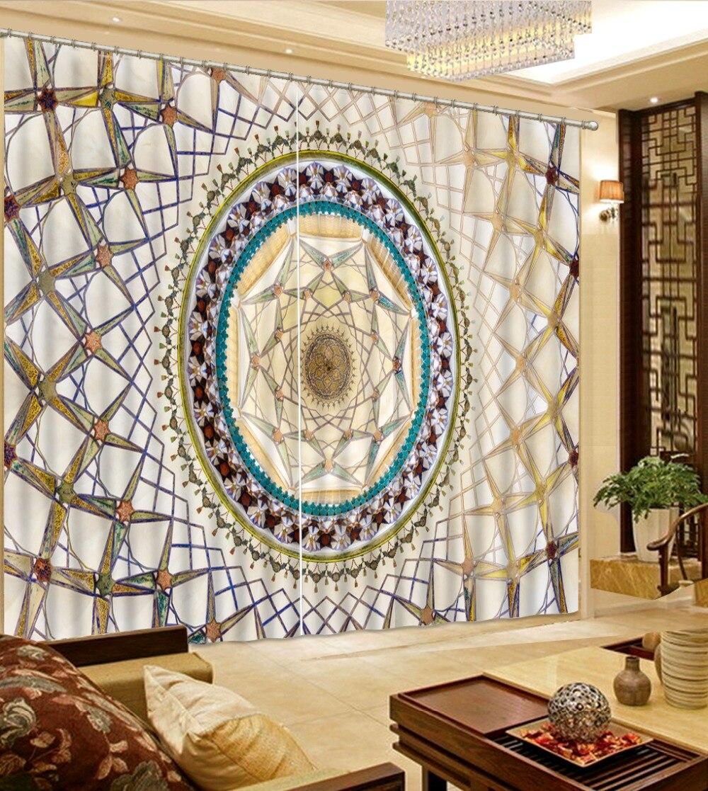 Rideaux Jacquard de luxe impression 3D Blockout motif créatif Photo chambre salon fenêtre enfants chambre rideaux