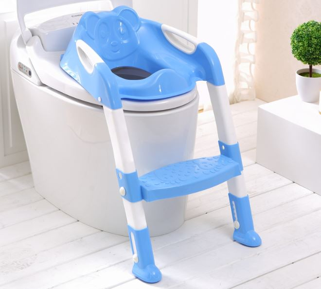 2016 new baby children kids boys girls potty seat with ladder cover toilet folding chair pee. Black Bedroom Furniture Sets. Home Design Ideas