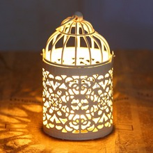 Fashion Hanging Bird Cage Candle Holder Candlestick Lantern Wedding Party Light