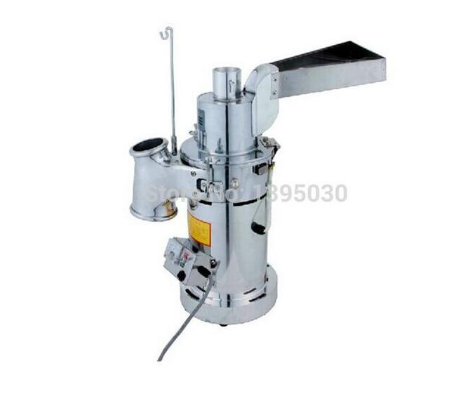 Automatic Table-type Continuous Feeding Herb Hammer Grinder Pulverizer / herbs grinding machine 20kg/hour DF-20