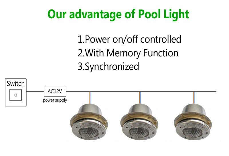 27 Watt 9 Watt FÜHRTE Unterwasser pool Licht Piscine 12 Volt 50 Fuß kabel edelstahl mit Nische Leuchte RGB Blau weiß durch DHL 2 stücke - 2