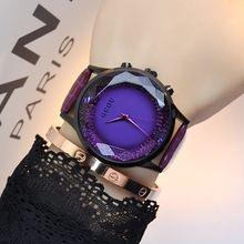 Original HK Moda Mujeres de la Marca de Relojes de Alta Calidad Dimond Señoras Relojes Mujeres Banda de Cuero Genuino Reloj de Vestir Casual Relojes