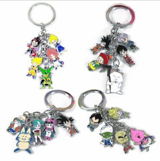 Dragonball Z Figure Super Saiyan God Vegeta Keychain Set Keychain Lot Dragon Ball Key Chain Son Goku Key Ring Keyring Kids Toys