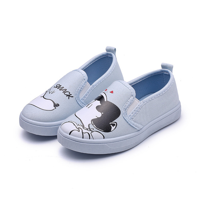 324288b9ae21 Kids Shoes Girls Boys Light Flat Casual Canvas Sneakers Children School  Cartoon Breathable Running Sport Baby(Little Big Kids)