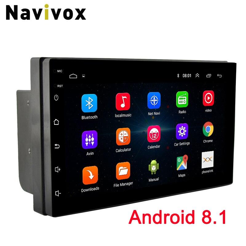 7 Navivox ''2 Rádio Din Car GPS Player de Rádio Android 8.1 GO Universal Navegação GPS Leitor De Áudio Para Nissan toyota Hyundai Polo