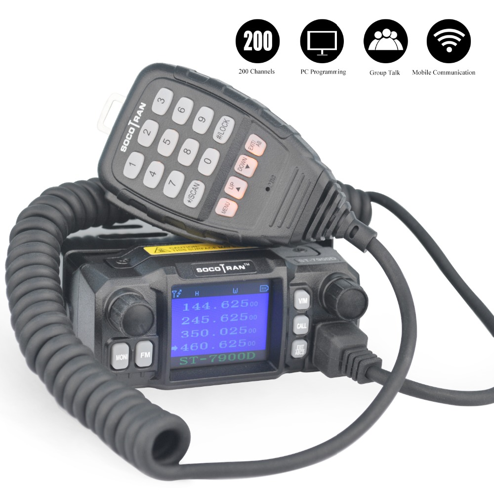 TO RU ST-7900D 25W Quad Band Mobile Radio Walkie Talkie 136-174/220-260/350-390/400-480MHZ 4 Bands FM Transceiver Mini Car Radio