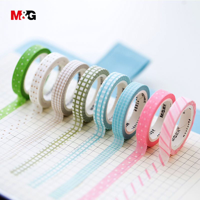 M&G washi tape set school supplies colored decorative adhesive scotch tape masking stationery office christmas scrapbooking tool цена и фото