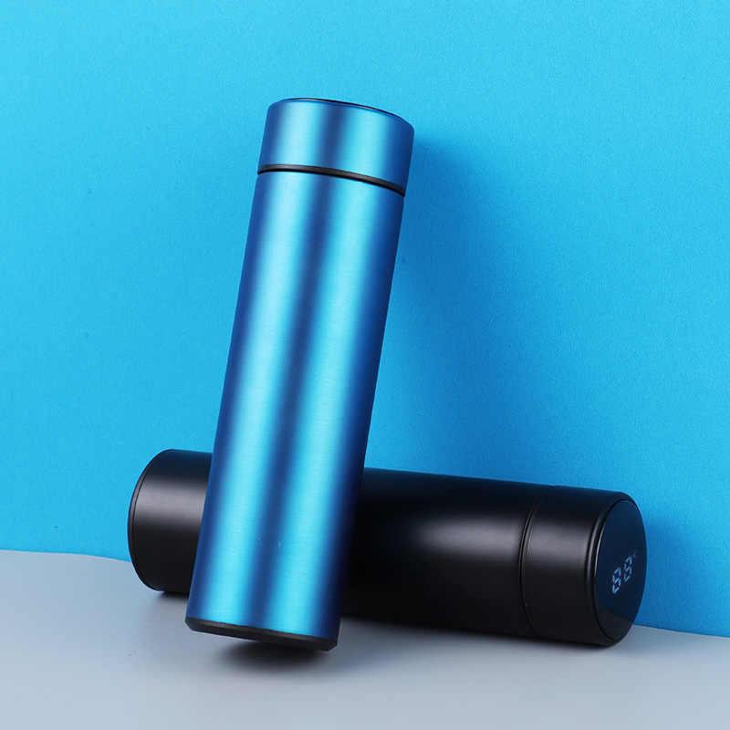 Display de temperatura garrafa térmica caneca 304 aço inoxidável manter a água quente portátil vácuo garrafa escritório em casa feminino masculino melhor escolha 450ml