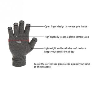 Image 3 - Hot 1 Pair Women Men Cotton Elastic Hand Arthritis Joint Pain Relief Gloves Therapy Open Fingers Compression Gloves