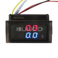 2in1 Digital Voltmeter Ammeter DC 0 300V 200A Voltage Tester Ampere Meter 2in1 Dual Display Volt