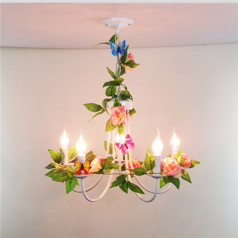 5 arm flower plant lamp nature chandelier light indoor lighting led lamp leaf korean country style