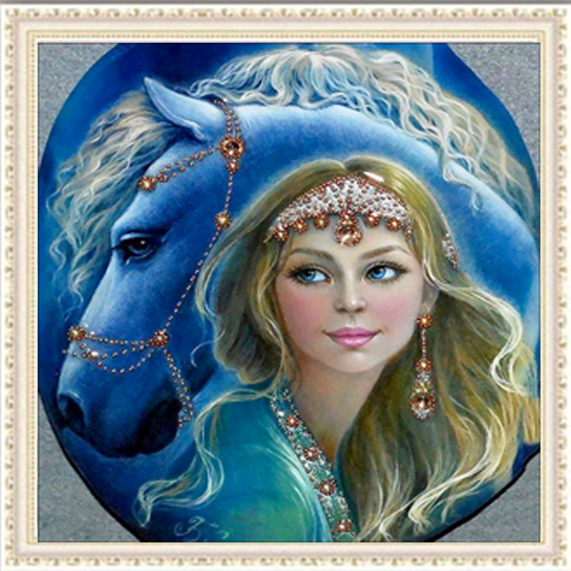 DIY 5D Diamond Painting Beauty Horse Beauty Gift Embroidery Painting Cross Stitch Craft Home Decor 30*30cm