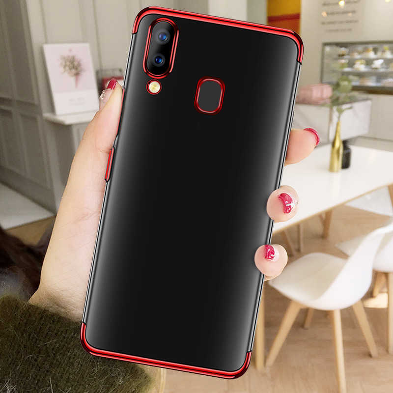Shining Plating Siliocn TPU Phone Case For Samsung Galaxy A7 A8 A6 Plus A9 2018 A50 A30 A10 A5 A7 A3 2017 Ultra Slim Clear Cover
