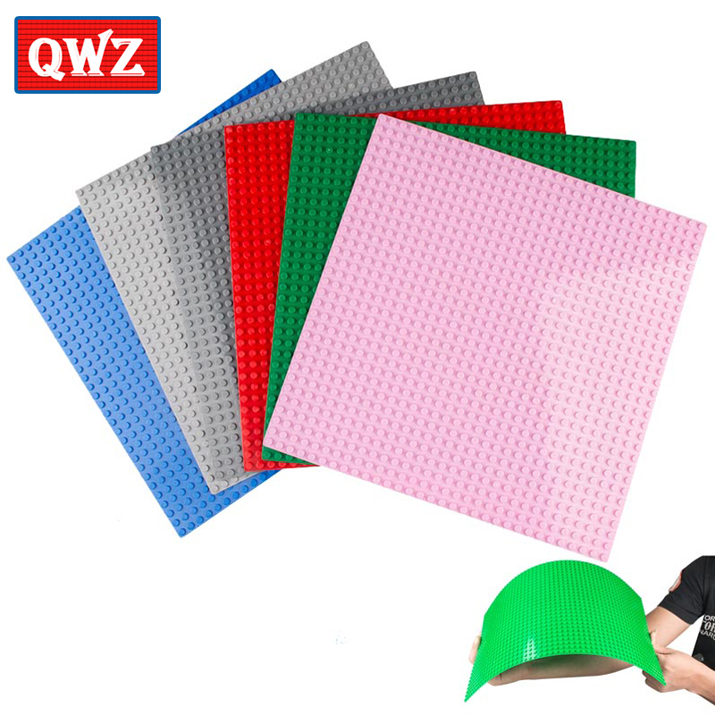 7 Colors <font><b>32*32</b></font> Dots <font><b>Base</b></font> <font><b>Plate</b></font> for Small Bricks Baseplate Board figures DIY Legoes Building Blocks Toys For Children image