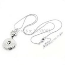 New 12PCs Snap Button Pendants Fit Charms White Rhinestone Round Silver Tone Free Shipping