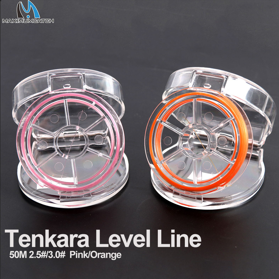 maximumcatch-tenkara-level-line-50m-25-30-fluorocarbon-pink-orange-tenkara-fly-font-b-fishing-b-font-line