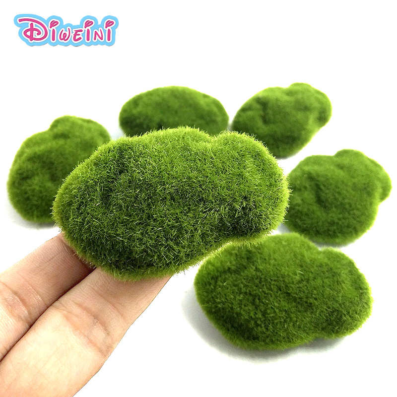 1PC DIY Mini Micro Landscape Simulation Grass Craft Action Figures Toys Miniature Fairy Garden Decoration Accessories Figurine