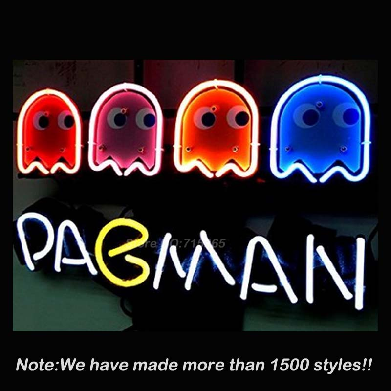 Neon sign for pacman game signboard real glass beer bar pub display neon sign for pacman game signboard real glass beer bar pub display restaurant outdoor light signs 1714 vd neon lamps bright the bargain paradise aloadofball Image collections