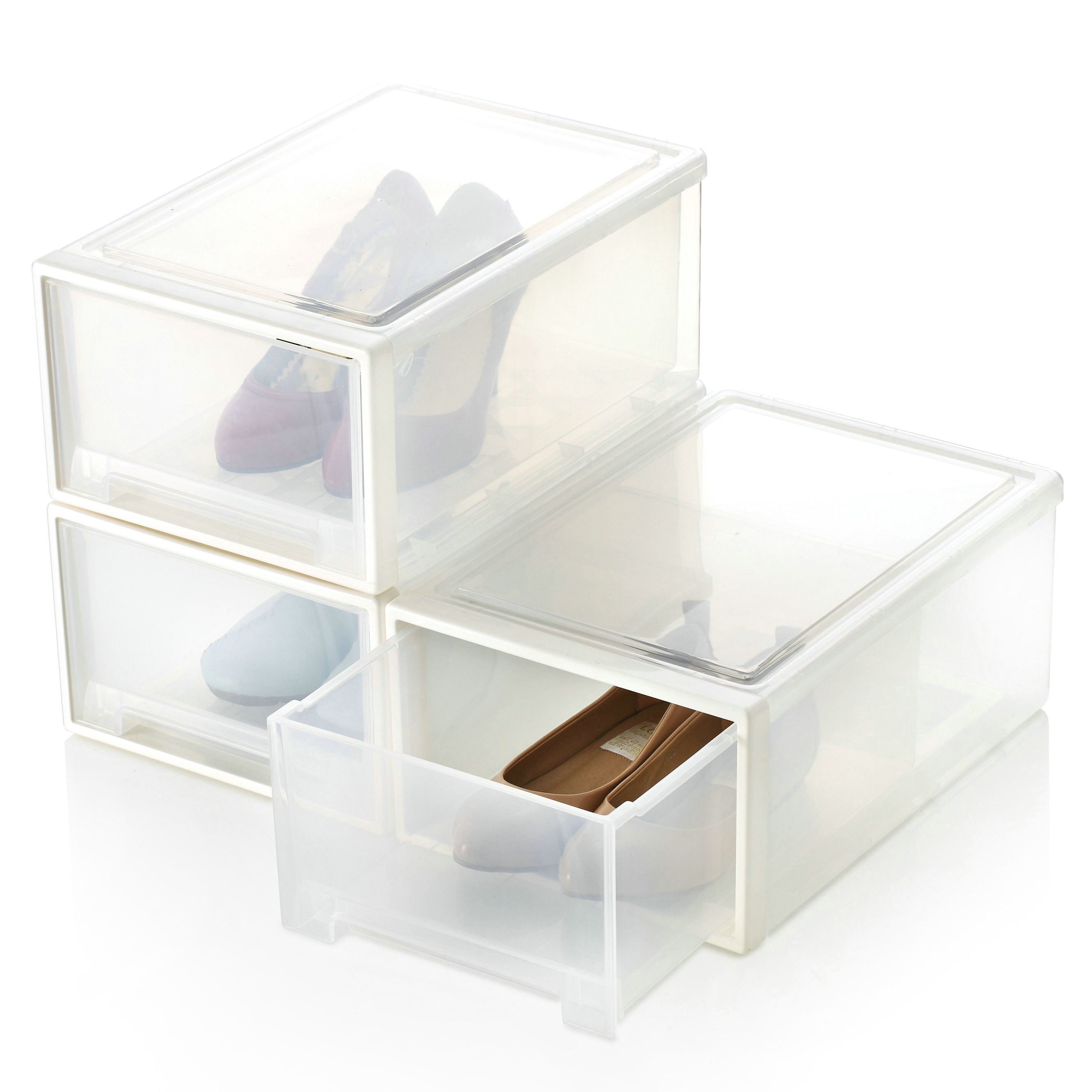 The hsbd household thickening drawer transparent plastic shoe box storage shoe box jewelry box-in Storage Boxes u0026 Bins from Home u0026 Garden on Aliexpress.com ...  sc 1 st  AliExpress.com & The hsbd household thickening drawer transparent plastic shoe box ...