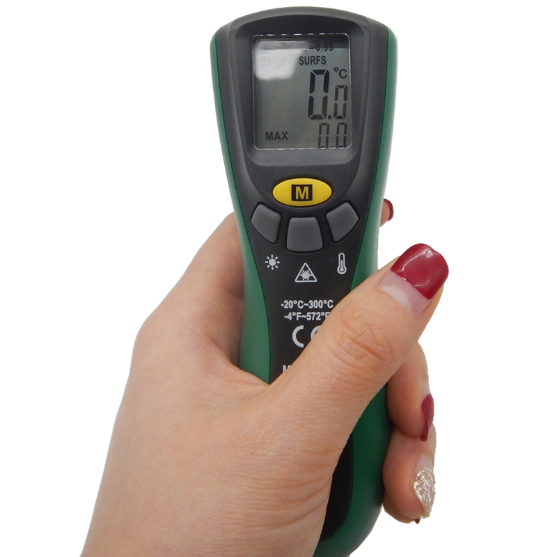 Mastech MS6522A Infrared Termometer Portable LCD Digital Thermometer 10:1(D:S) Non-contact Handheld Laser Tester Industrial-tool  цены