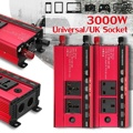 Solar Inverter 12V 220V 3000W P eak Power Spannung Transformator Konverter DC 12V Zu AC 220V Modifizierte Sinus Welle Solar Inverter-in Wechselrichter & Konverter aus Heimwerkerbedarf bei