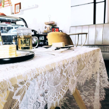White openwork lace tablecloth wedding decoration clothing accessories European home table flag