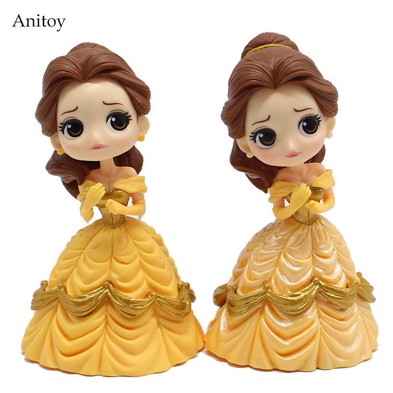 Q posket Beauty and the Beast Belle Princess PVC Figure Collectible Toy Kids Toys for Girls Cake Decoration 13cm KT4127
