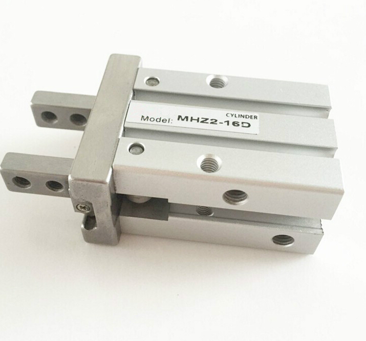 bore 16mm  SMC Style MHC2 Series double acting Air Gripper Cylinder high quality double acting pneumatic robot gripper air cylinder mhc2 25d smc type angular style aluminium clamps