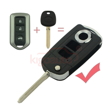 цена на kigoauto refit Flip Remote Key Shell 3 Button For Toyota Highlander TOY43 Uncut Blade modified Fob Case