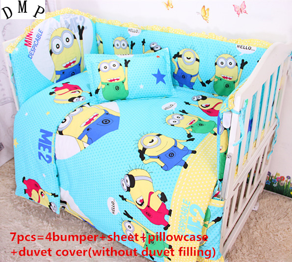 Discount! 6/7pcs Baby Cot baby bedding set bed linen Pure cotton curtain crib bumper,120*60/120*70cm discount 6 7pcs baby bedding set 100% cotton curtain crib bumper baby cot sets baby bed 120 60 120 70cm