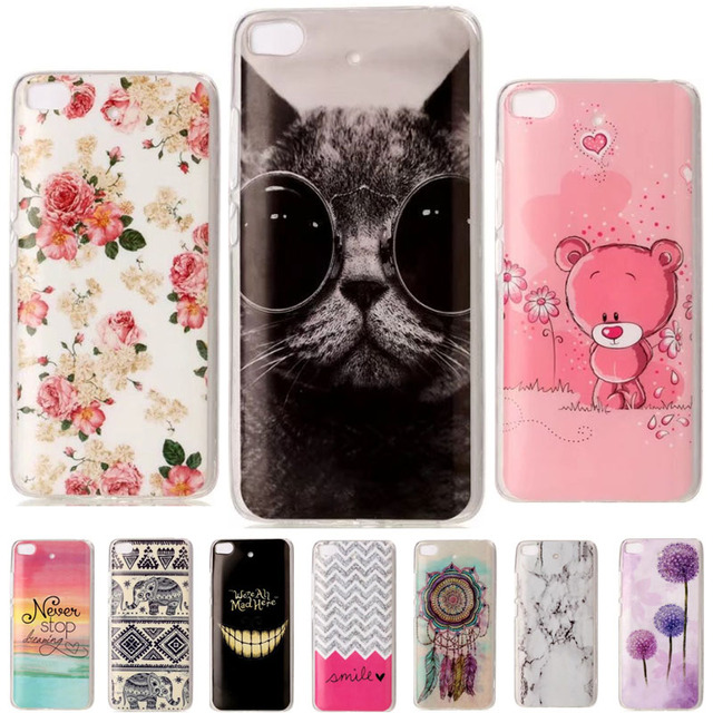 For Xiaomi Mi 5S Case Soft TPU Cool Cat Back Phone Cases For Xiaomi Mi5S Cover Silicon Clear Bumper For Xiaomi Mi5 S Case Funda