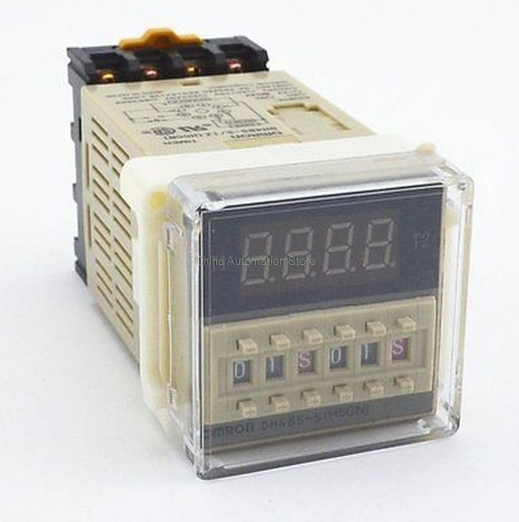 Programmable Double Time Delay Relay DH48S-S Socket Base Voltage DC12V DC24V AC110 AC220V dh48s s digital time relay dc 24v cycle delay timer relay with socket