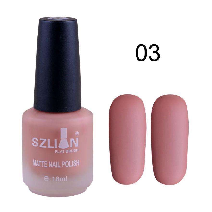 Drop shipping 18ml Matte Dull Nail Polish Fast Dry Long Lasting Nail Art Matte Nail Polish Gel