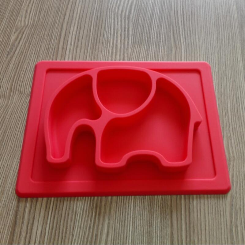 BPA: n vapaa liukumaton vauvan silikoni-elefantti-alusta lapsille, - Lapsi ruokinta - Valokuva 4