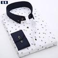 Marca de impresión camisa de los hombres camisa de manga larga slim fit casual clothing camisetas hombres de la manera camisa masculina ocasional floral camisa de vestir