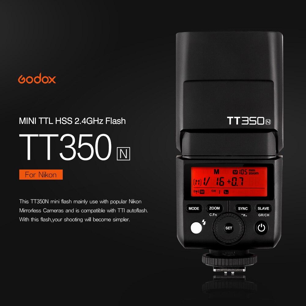 Godox TT350N TTL HSS 1/8000s Speedlite Flash for Nikon D750 D7000 D7100 D7200 D5100 D5200 D5000 D300 D300S D3200 D3100 D200 D800