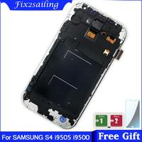 lcd For SAMSUNG Galaxy S4 i9505 LCD Display Touch Screen Digitizer With Frame for SAMSUNG S4 i545 I9500 display