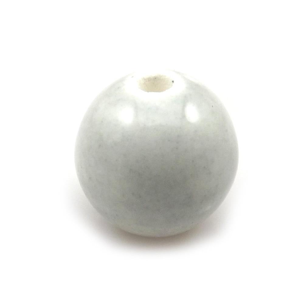 14 мм светло-серый круглый керамический DIY свободные бусины 100 шт./партия