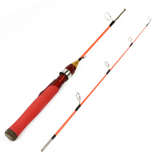 LEO 70/80/100cm Portable 2 Section Ice Fishing Rod Solid Fiberglass Metal Joint Shrimp Fishing Rod Winter Fishing Gear