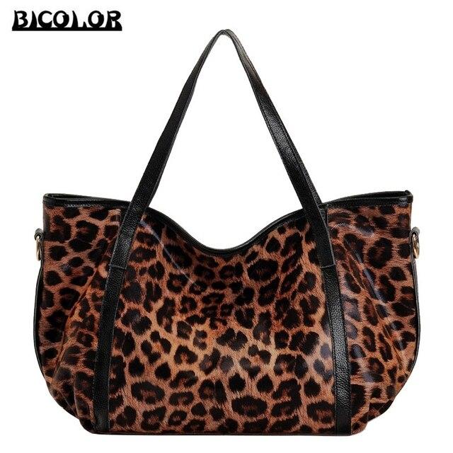 Bicolor Unique Edition Leopard Print Bag Luxury Handbags Women Bags Designer Famous Brands Las Shoulder
