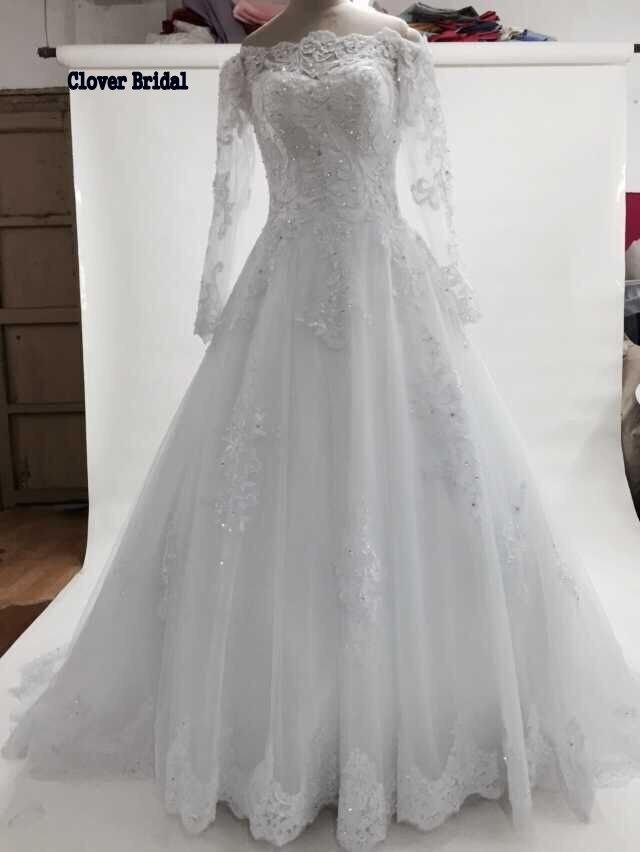 Royal High quality free customize vintage lace long sleeves see though bateau neckline vestido de noiva princesa renda 2015
