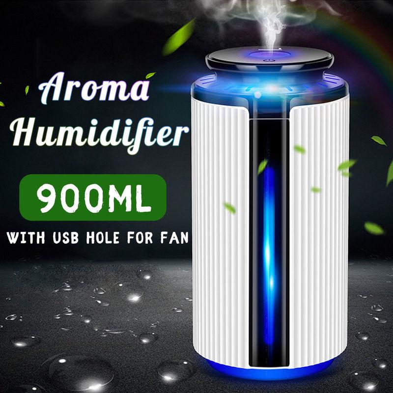 Navio da gota 900 ml usb umidificador de ar ultra aroma difusor óleo essencial 7 cores led night light névoa fria humidificador