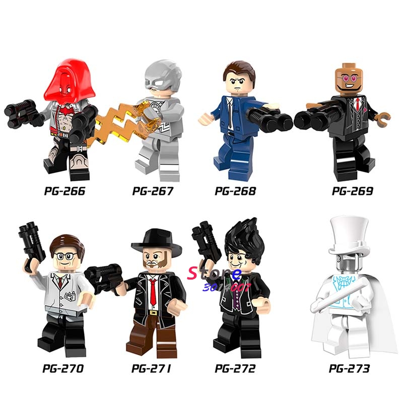 Single Super Hero DC Detective Gordon Flash Hugo Strange Invisible Man Arkham Flash building blocks bricks toy for children batman detective comics volume 9 gordon at war