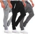 Mens Joggers Pantalones 2017 Marca Hombre Pantalones Cargo Sólido de Bolsillo Delgado Pantalones Medias de Compresión Hombres Basculador XXL