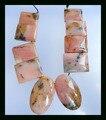 Natural Stone Sale 10Pcs Pink Opal Necklace Pendants,31*19*9mm,22*17*8mm,58g natural stone necklace beads stone pendant