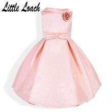 Kids Bowtie Princess Dresses Sleeveless Vest Dresses Bowtie Formal Pleated Dress  Party Wedding Dance Stage Boutique 452acbb69b49