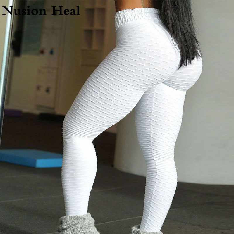 2018Women Yoga Pants High Quality Slim Running Fitness Leggings Elastic Sexy Compression Running Tights Breathable Sports Pants