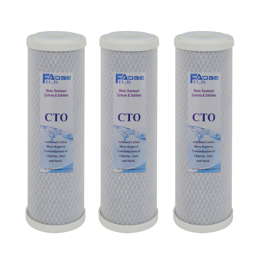 Reverse Osmosis RO System Replacement Filters 10 x2 3 4 Coconut Shell Carbon Block Filter Cartridge