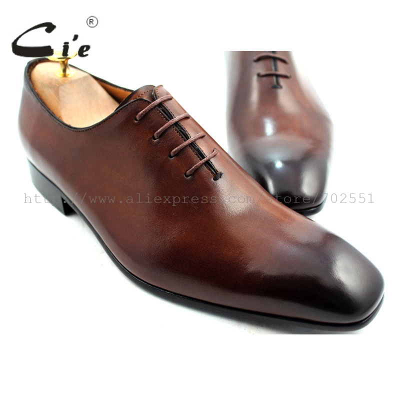 cie Square Toe Plain Toe Whole Cut Mackay Lace-Up 100%Genuine Calf Leather Outsole Breathable Mens Oxfords Shoe Handmade OX220
