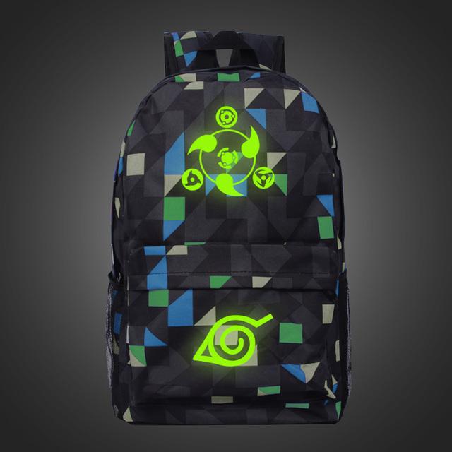 Fashion Luminous Plaid Backpack Boy Girl School Bag For Teenagers Japanese Anime Laptop Canvas Backpack #bag